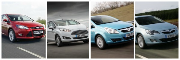 Ford Focus Fiesta Vauxhall Corsa and Astra