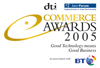 DTI commerce awards logo