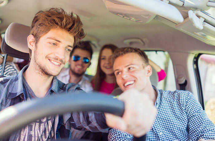 Students in a car