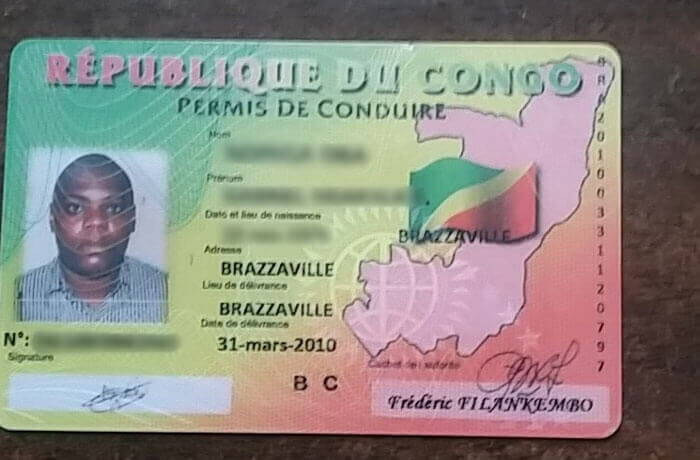 Congo driving licence