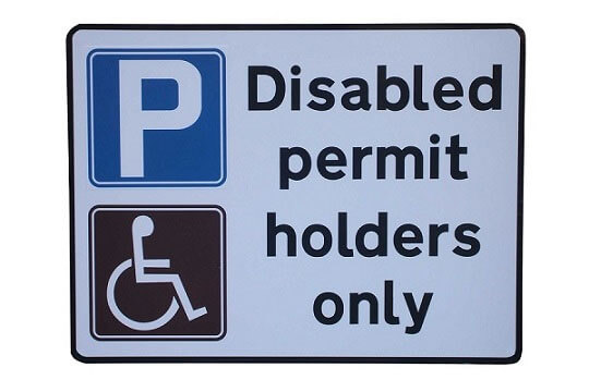 Disabled bay parking permit