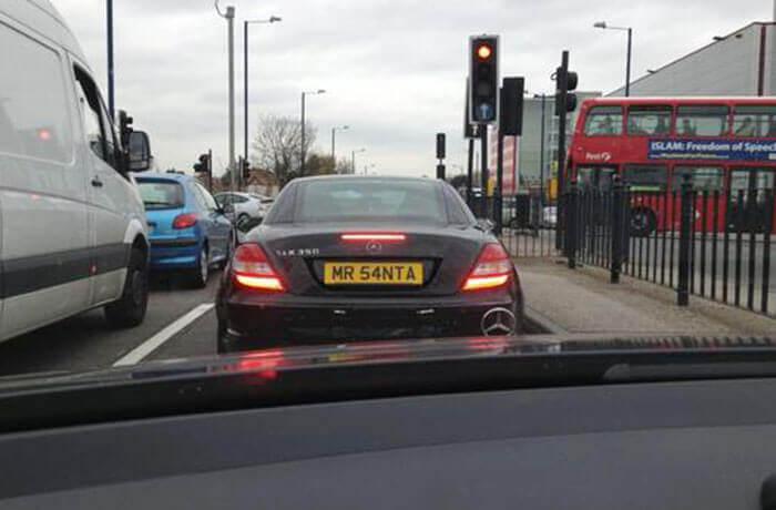 Funny number plate