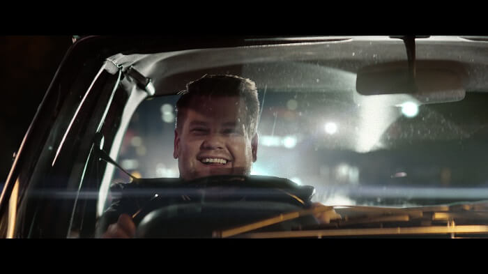 James Corden driving
