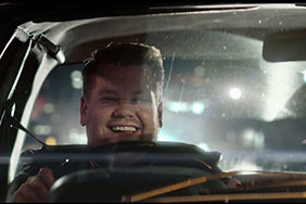 James Corden in a car