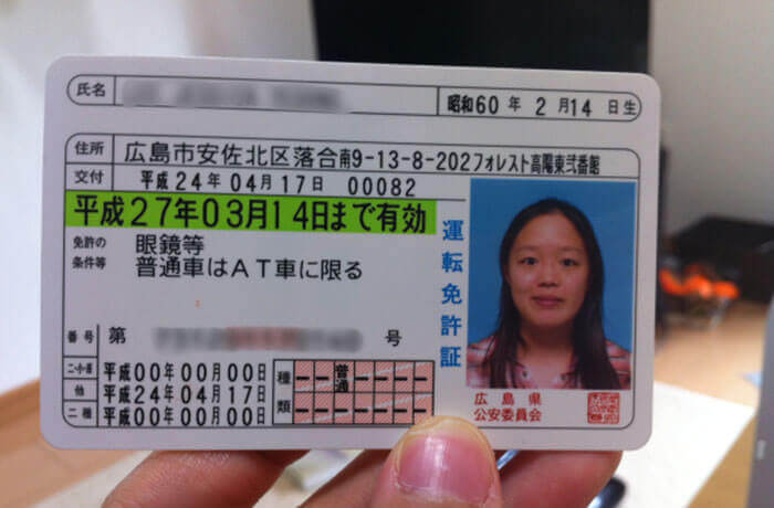 Japan driving licence