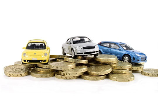 Cars on pound coins