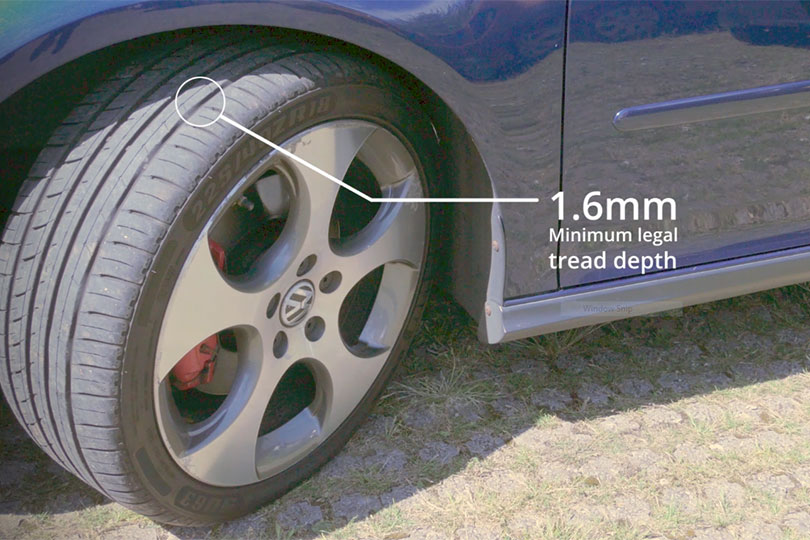 Legal minimum tread depth
