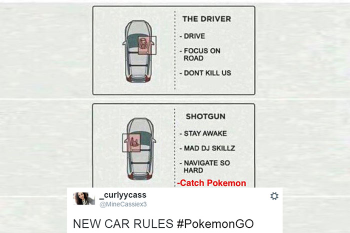 A tweet about Pokemon Go