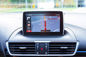 Sat nav on white background