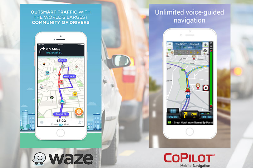 Waze and CoPilot