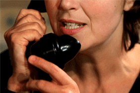 Woman speaking on the phone