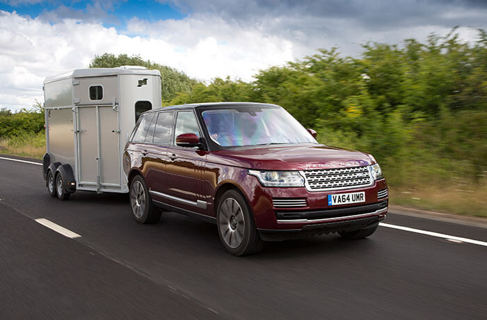 Land Rover towing