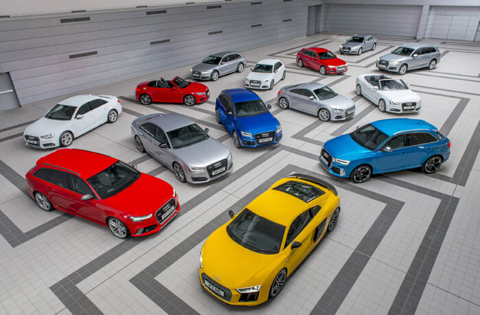 Different Audi models