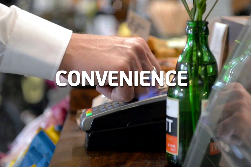 Convenience - using a payment ring