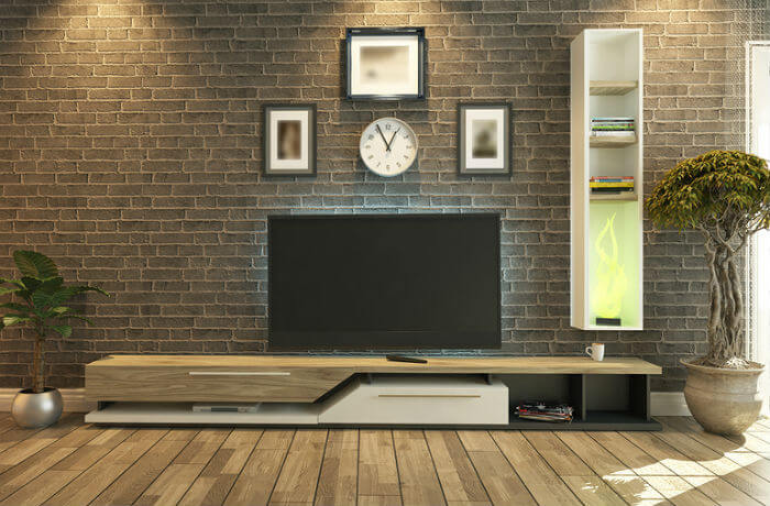 Living room with a TV