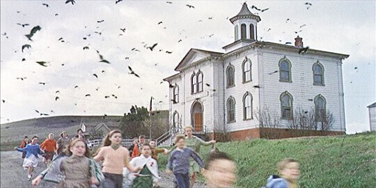 The Birds schoolhouse