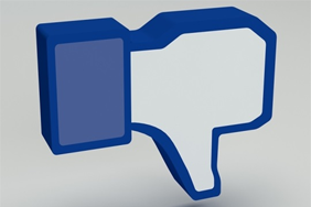 Facebook thumbs down