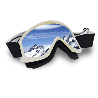 Skiing goggles
