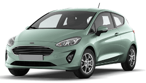 Ford Fiesta green car