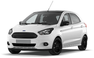 Ford KA white car